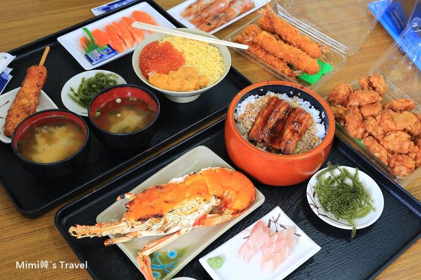 【沖繩美食】泡瀨漁港 パヤオ直売店(map code):海膽焗烤龍蝦、鰻魚飯、海膽鮭魚卵丼飯,擺一整桌超過癮