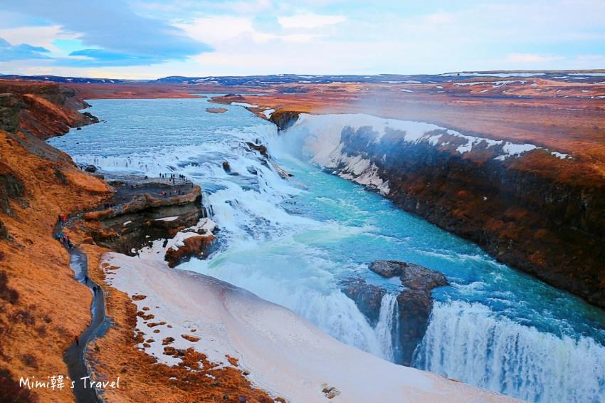 【冰島黃金圈】Gullfoss 黃金瀑布:兩大斷層氣勢磅礴,冰島南部必遊景點
