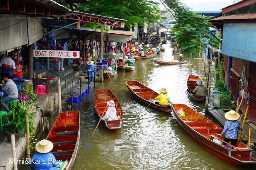 【泰國】丹能莎朵水上市場:玩樂重點&曼谷出發一日遊!搭船逛市場,國際級獨特畫面