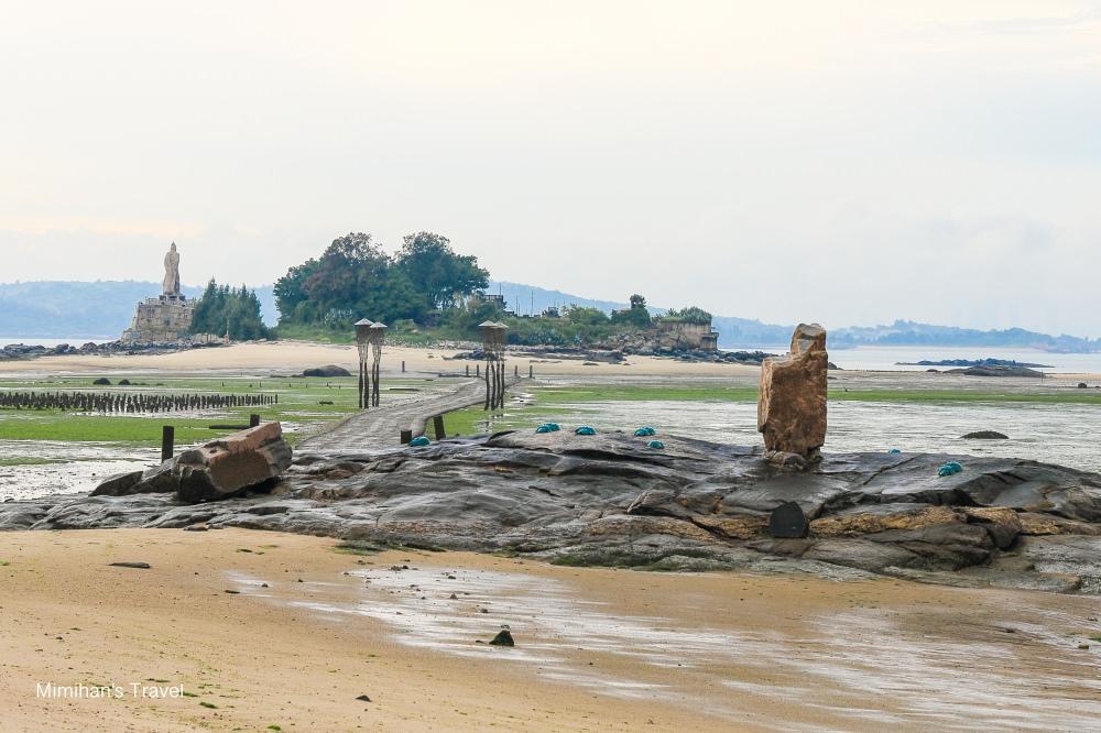 【金門景點】建功嶼(附潮汐表):直擊摩西分海獨特景觀,戰地風情也很美推薦必訪。