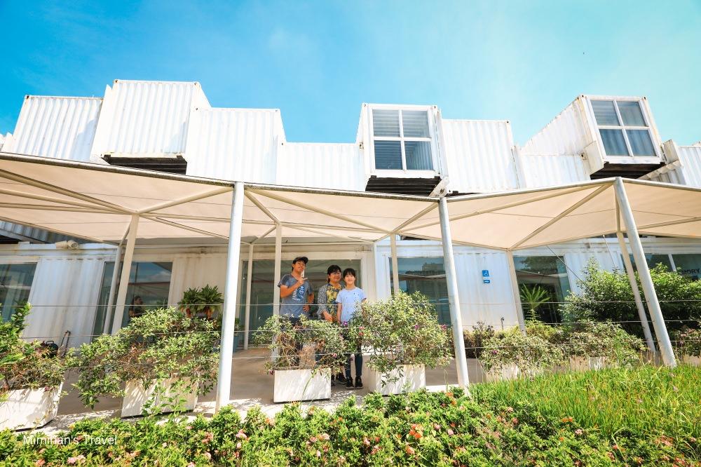 宜蘭礁溪|龍潭湖畔悠活園區:美拍純白貨櫃屋&玻璃景觀咖啡!免費參觀停車佛心景點